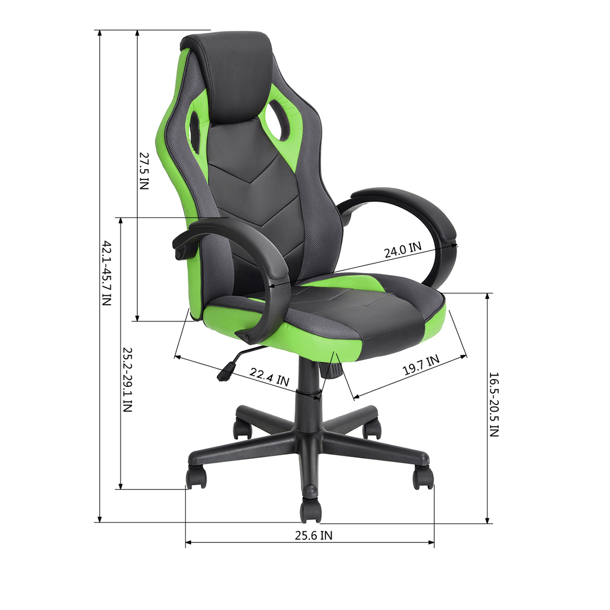 thumbnail 12 - Gaming Racing Chair Office High Back Ergonomic Computer Desk Swivel PU Leather