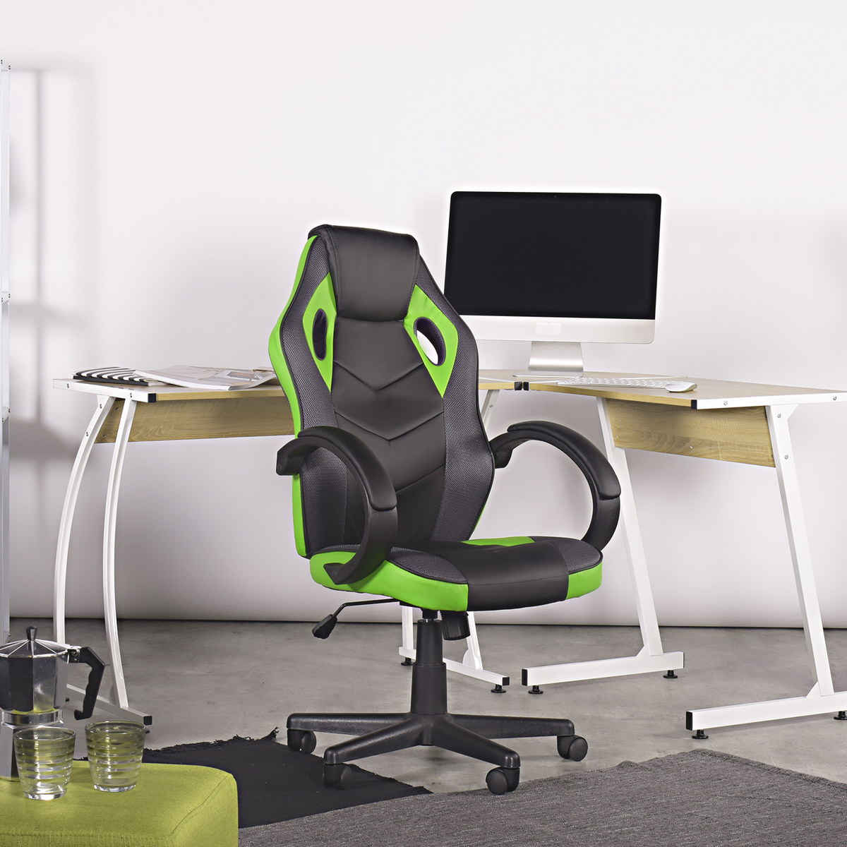 thumbnail 20 - Gaming Racing Chair Office High Back Ergonomic Computer Desk Swivel PU Leather