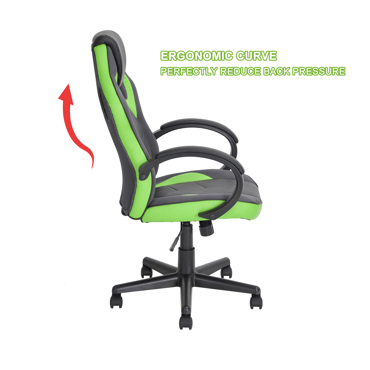 thumbnail 14 - Gaming Racing Chair Office High Back Ergonomic Computer Desk Swivel PU Leather