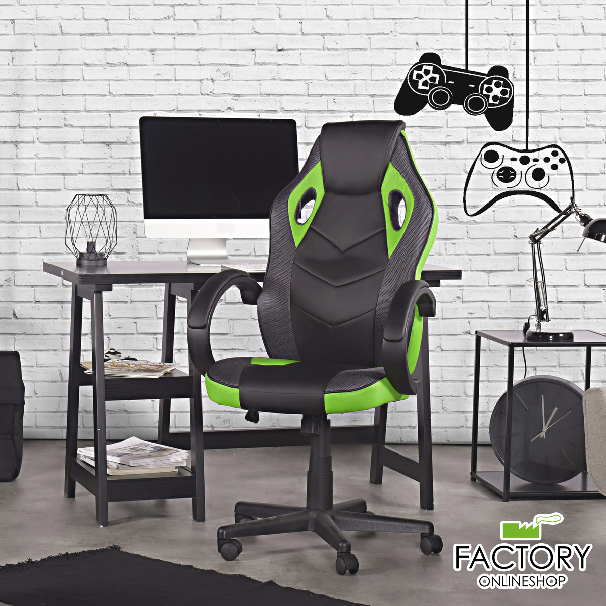 thumbnail 11 - Gaming Racing Chair Office High Back Ergonomic Computer Desk Swivel PU Leather