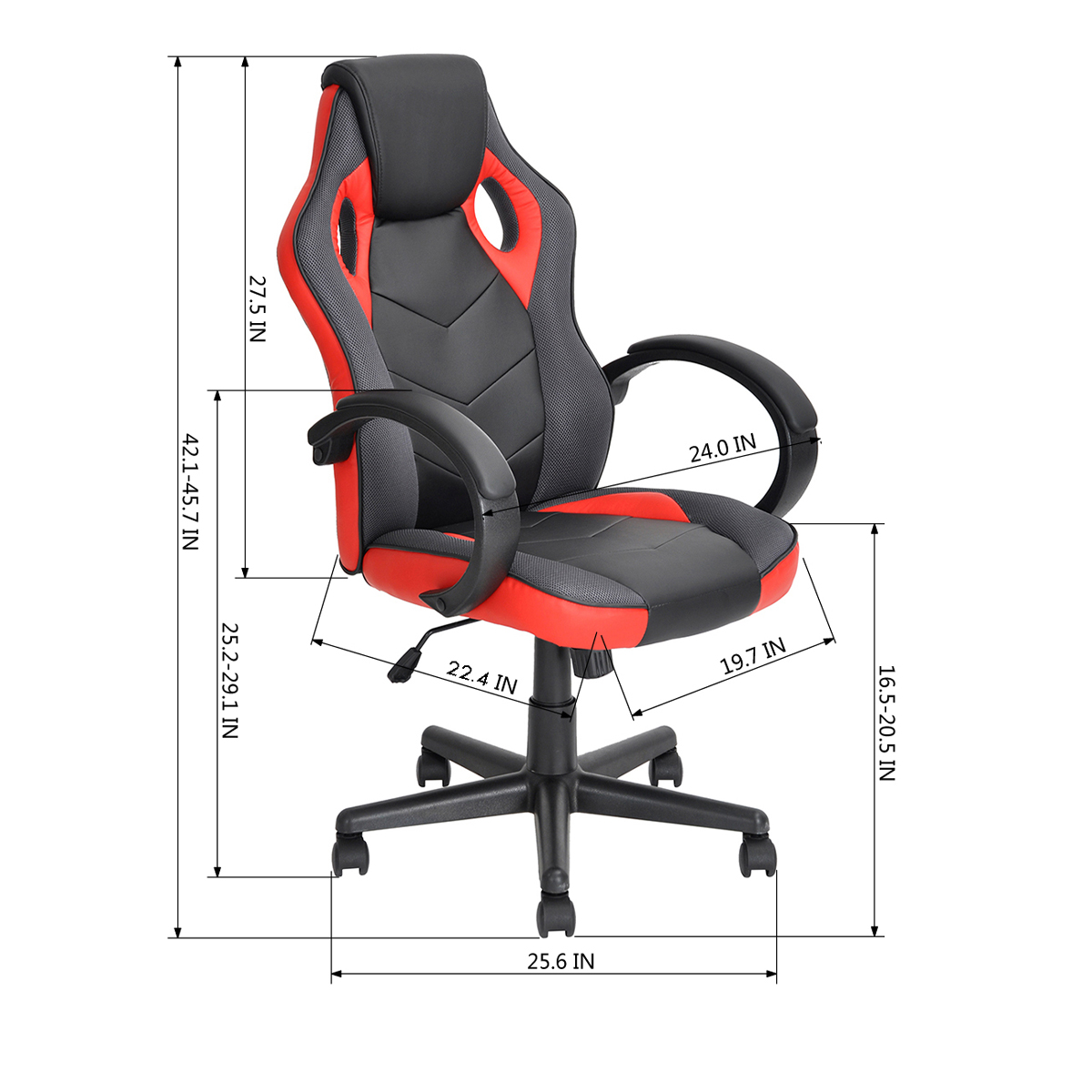 thumbnail 22 - Gaming Racing Chair Office High Back Ergonomic Computer Desk Swivel PU Leather