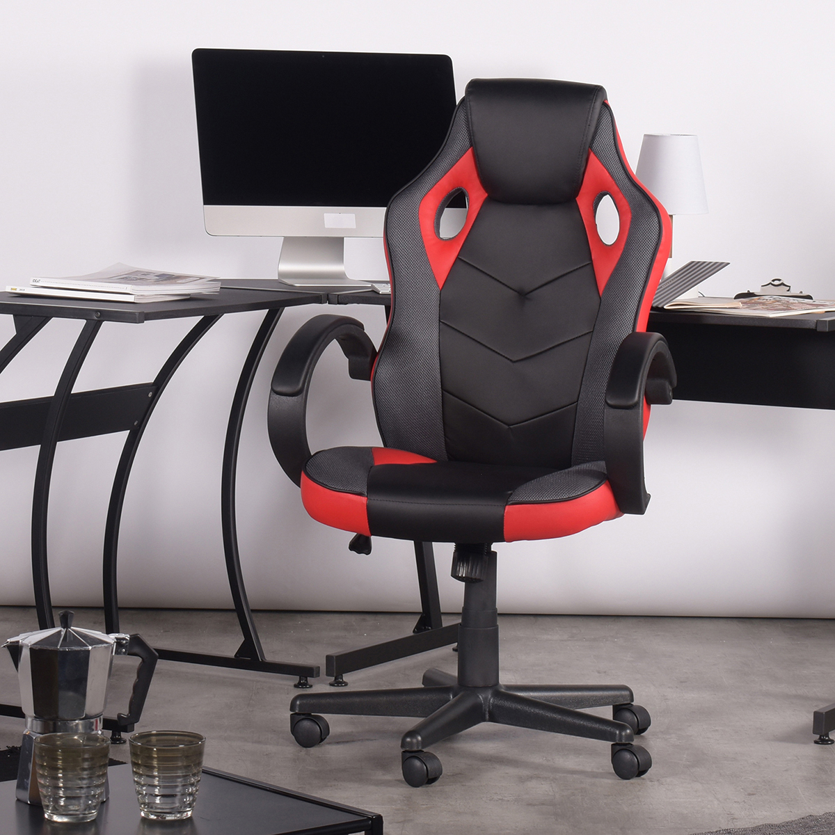 thumbnail 30 - Gaming Racing Chair Office High Back Ergonomic Computer Desk Swivel PU Leather