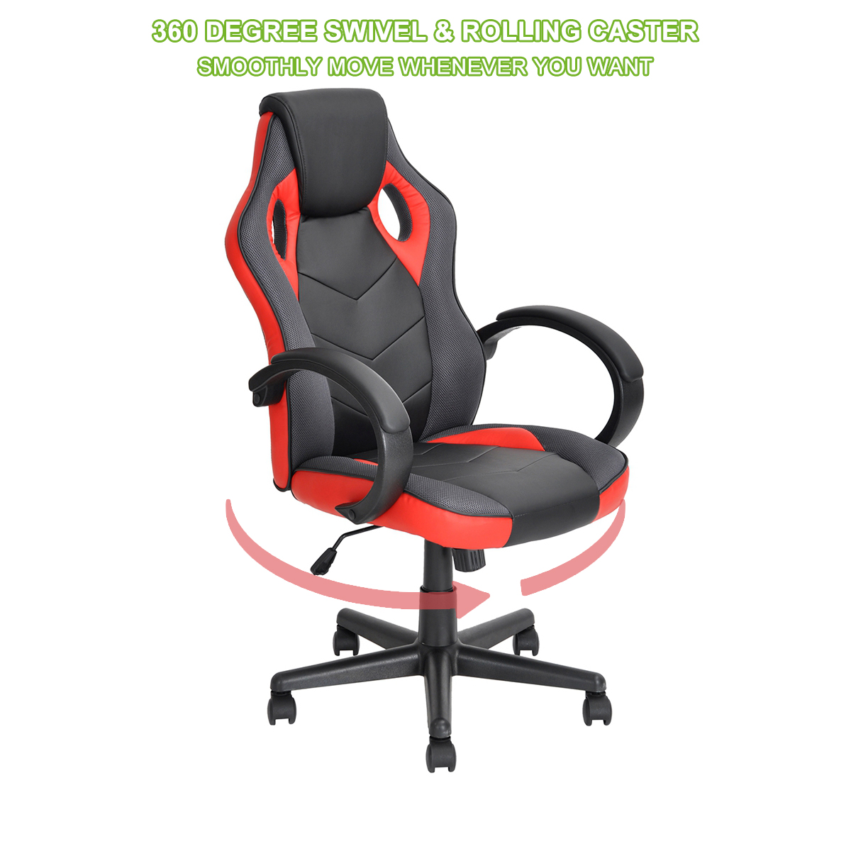 thumbnail 24 - Gaming Racing Chair Office High Back Ergonomic Computer Desk Swivel PU Leather