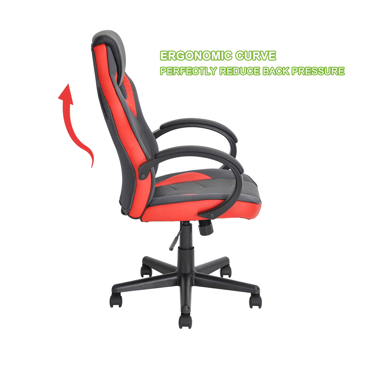 thumbnail 25 - Gaming Racing Chair Office High Back Ergonomic Computer Desk Swivel PU Leather
