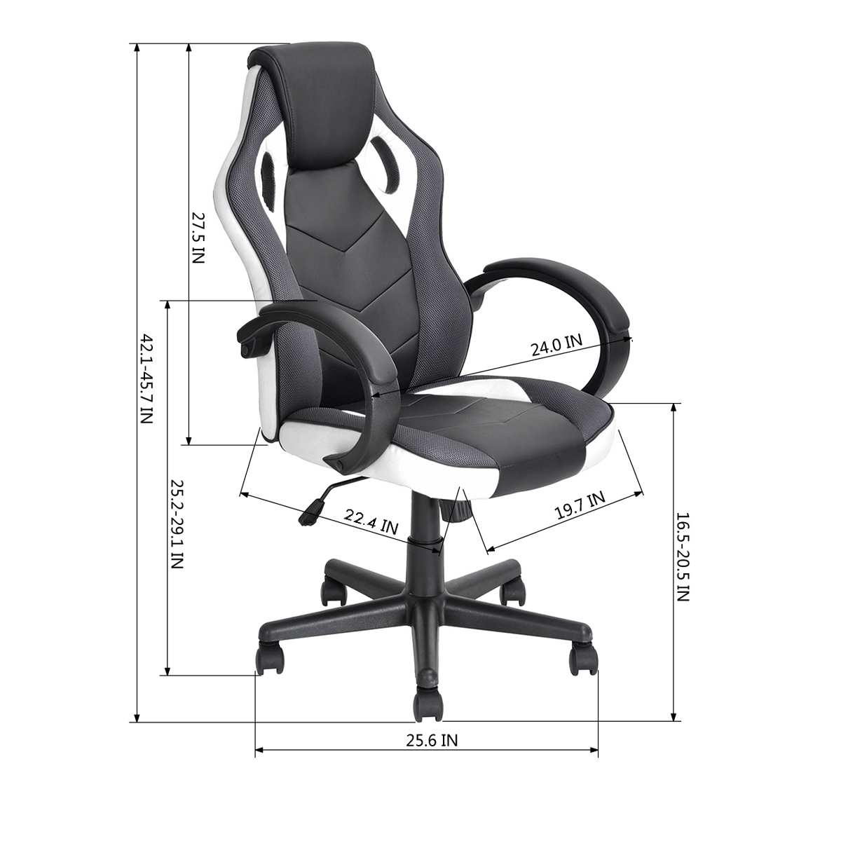 thumbnail 32 - Gaming Racing Chair Office High Back Ergonomic Computer Desk Swivel PU Leather