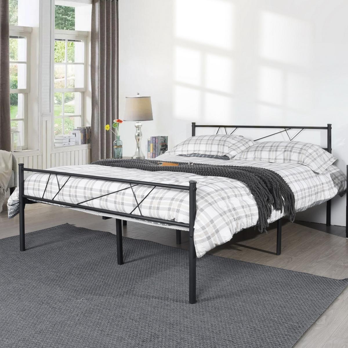 Queen Full Twin Size Bed Frame Metal Platform Headboard ...