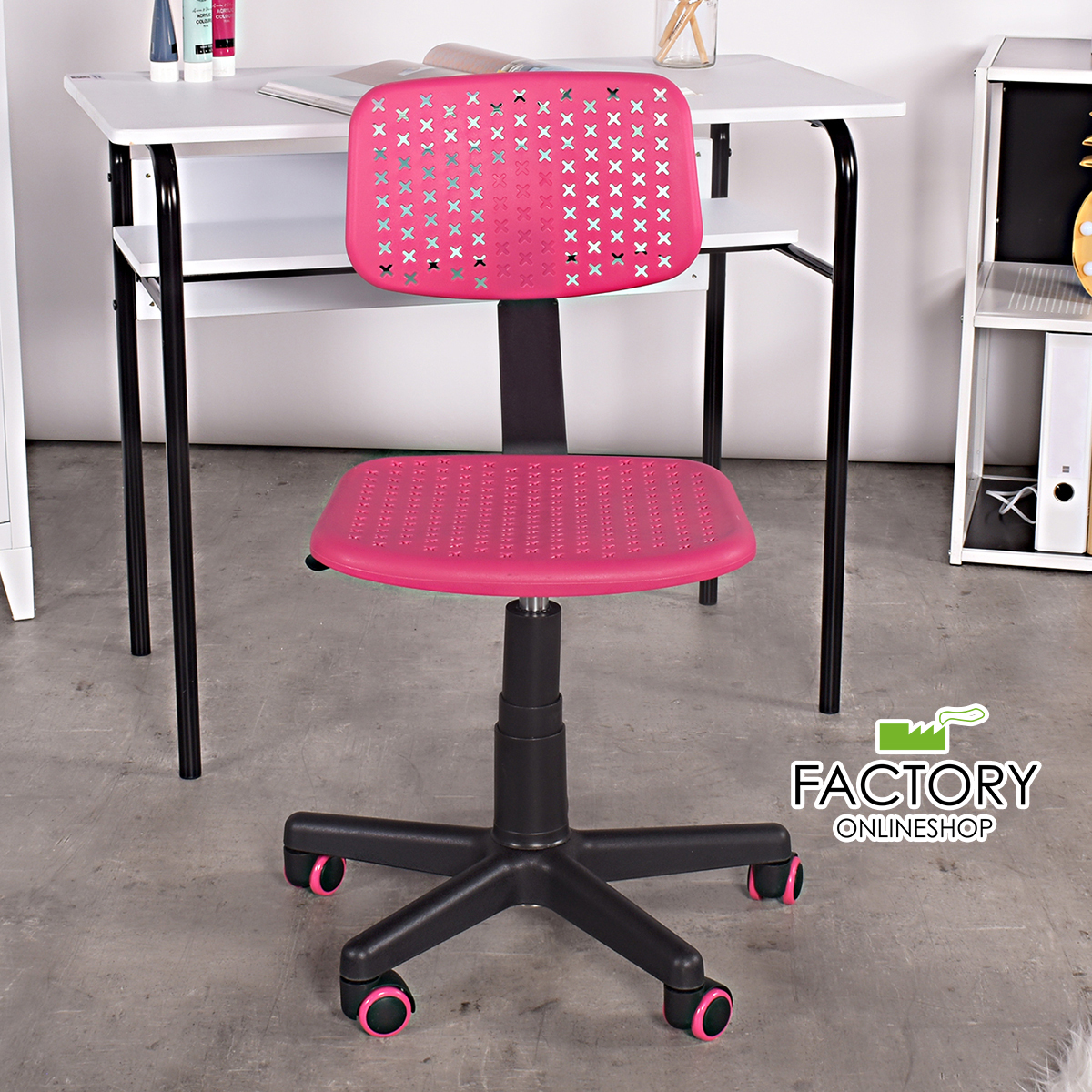 Marvelous Details About Office Chair Pink Swivel Kids Room Computer Student Desk Task Adjustable Rolling Machost Co Dining Chair Design Ideas Machostcouk