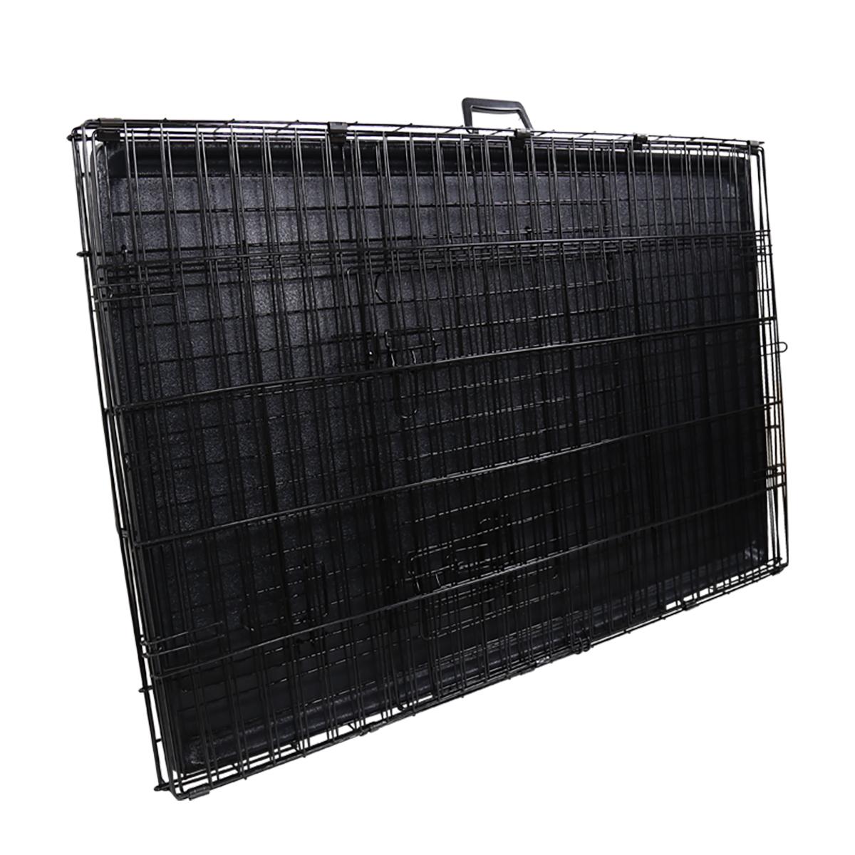 "thumbnail 6 - [24""][30""][36""][42""][48""] Folding Portable Dog Crate Pet Cage Kennel Pen 2-Doors"