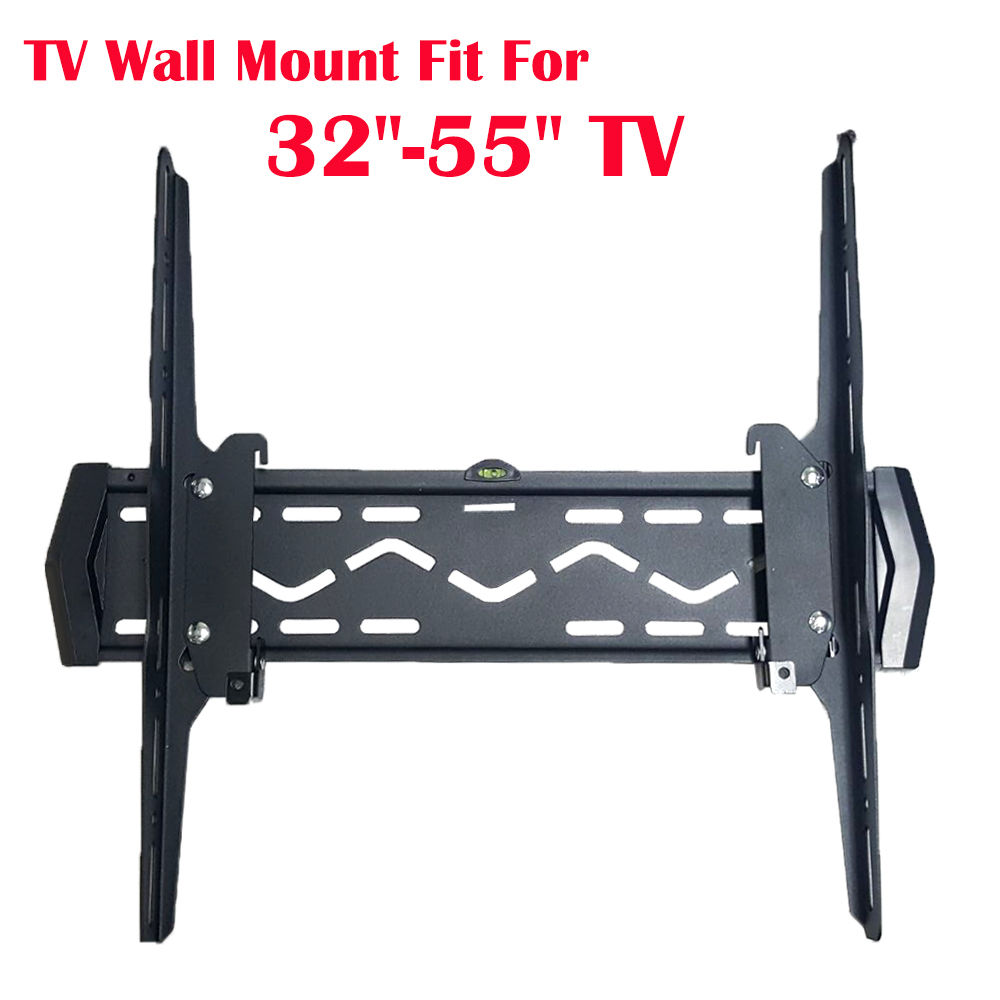"Tilt LCD LED Bracket Max Weight 88Lb TV Wall Mount 32/""-55/"" Ultra Flat Fixed"