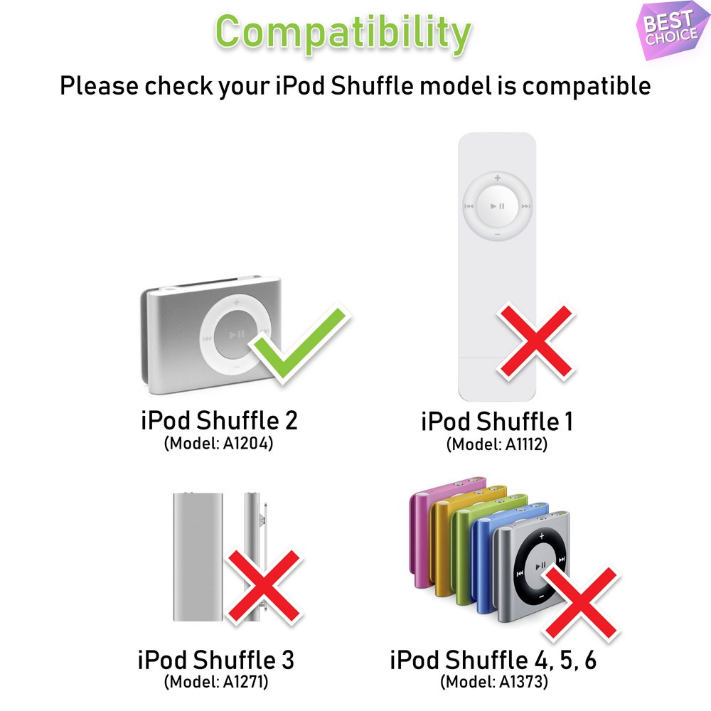 Features: NOTE: Compatible with Apple iPod Shuffle 2nd Generation ...