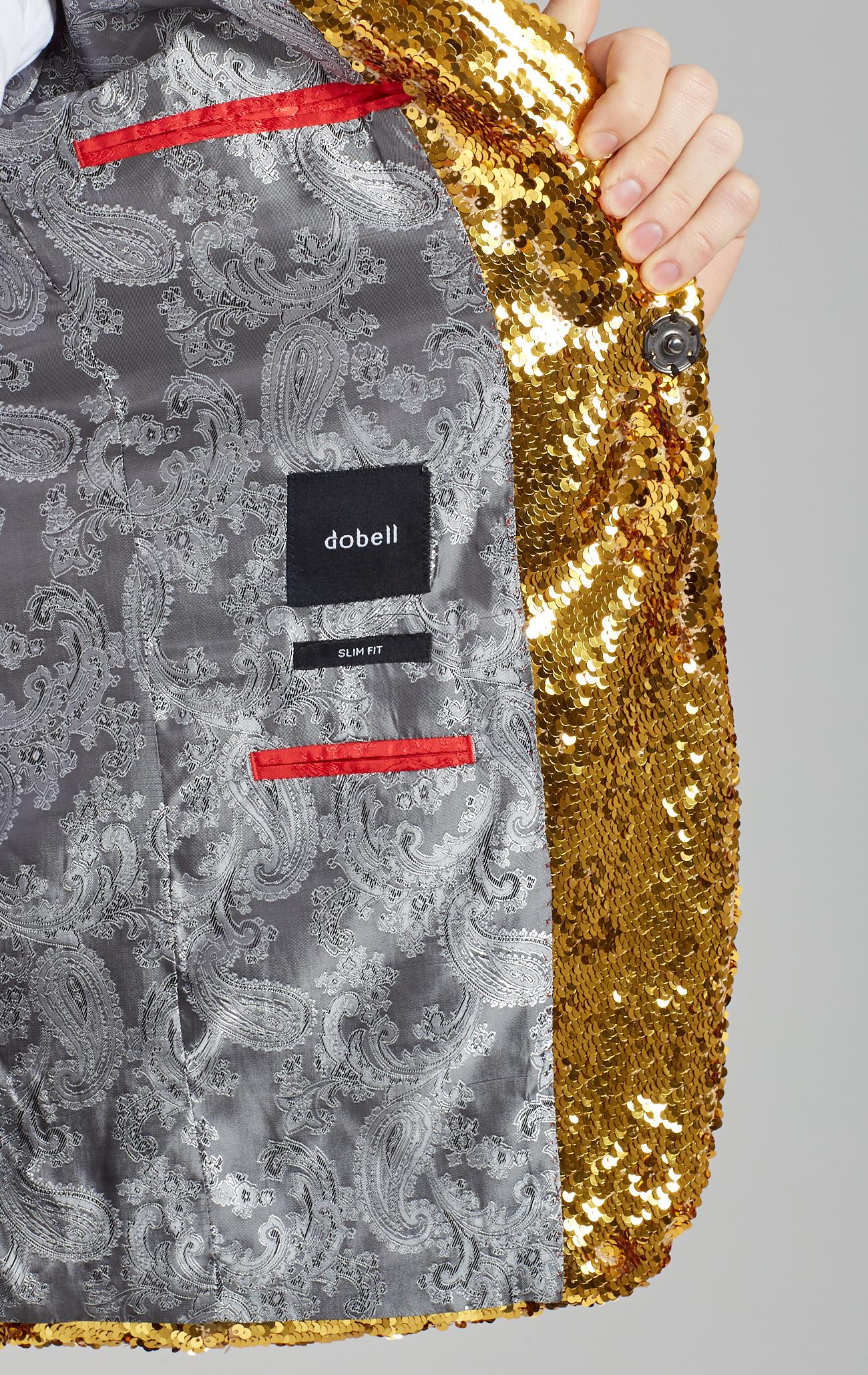 1a5d0bcdc Details about Dobell Mens Gold Sequin Tuxedo Jacket Slim Fit Peak Lapel