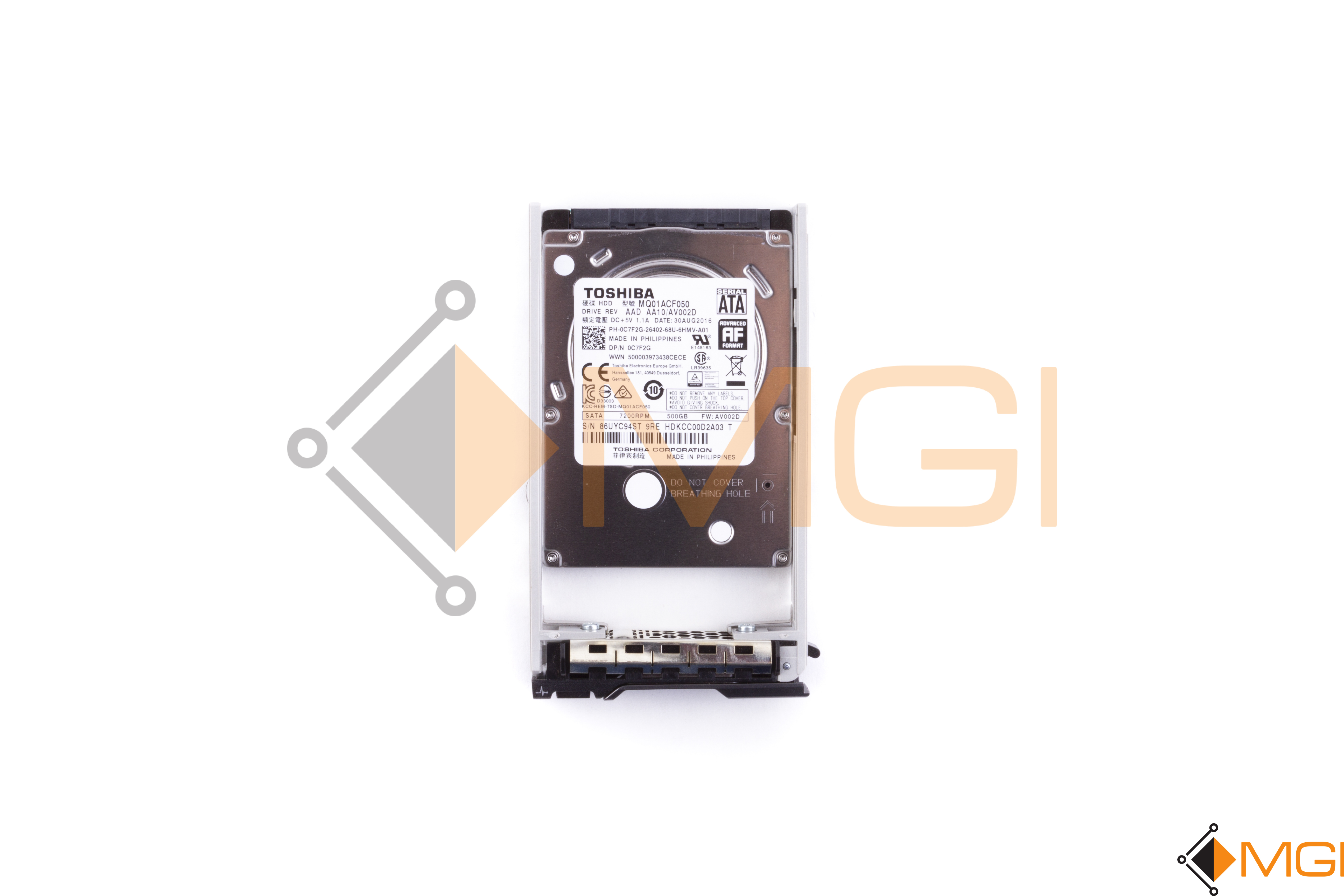 Details about TOSHIBA 500GB 7200RPM SATA HDD W/ R SERIES TRAY // C7F2G //  FREE SHIPPING