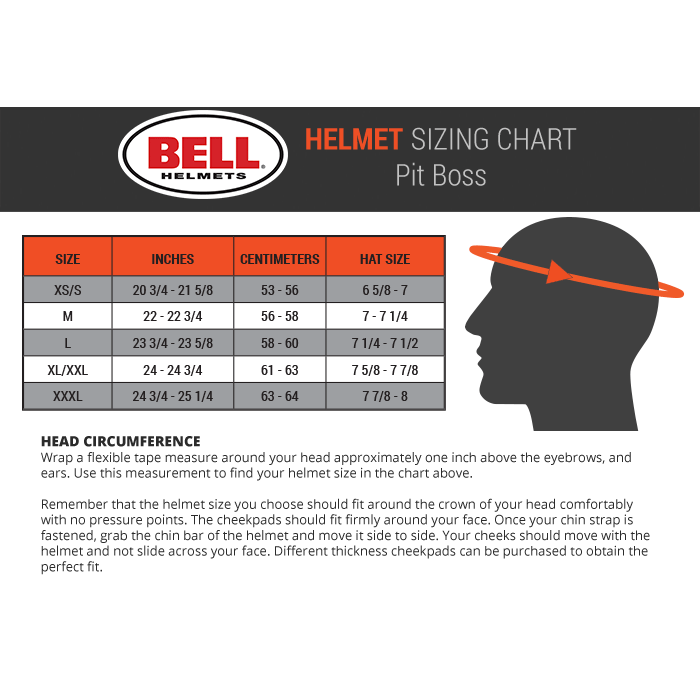 Bell Helmet Size Chart Bell Racing Gp3 Carbon Fiber Auto Racing