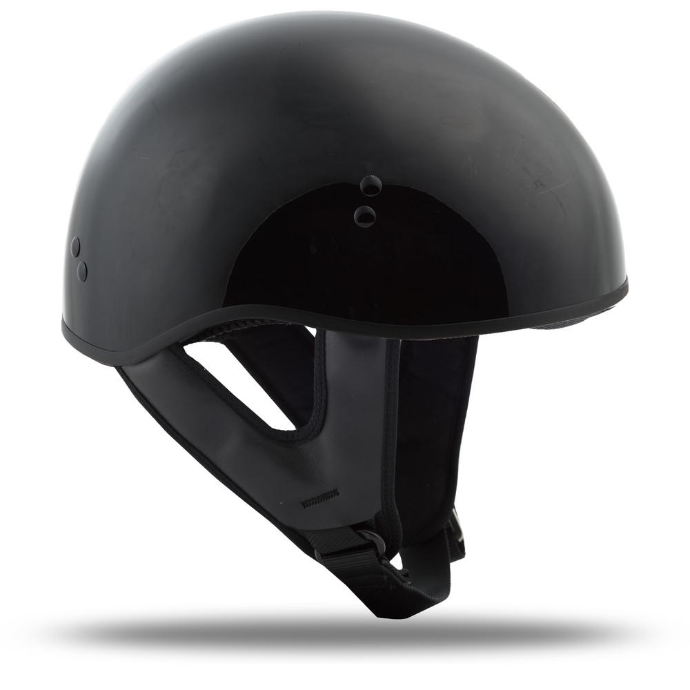 GMAX GM-45 1/2 Half Motorcycle Helmet Naked Black Solid