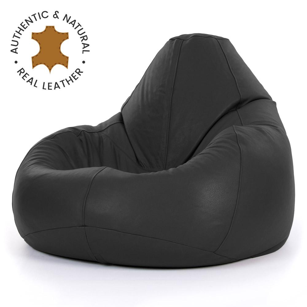 miniatura 15 - Bean Bag Bazaar-Pouf in vera pelle, XXL-Sedia reclinabile in pelle Bag-ICON