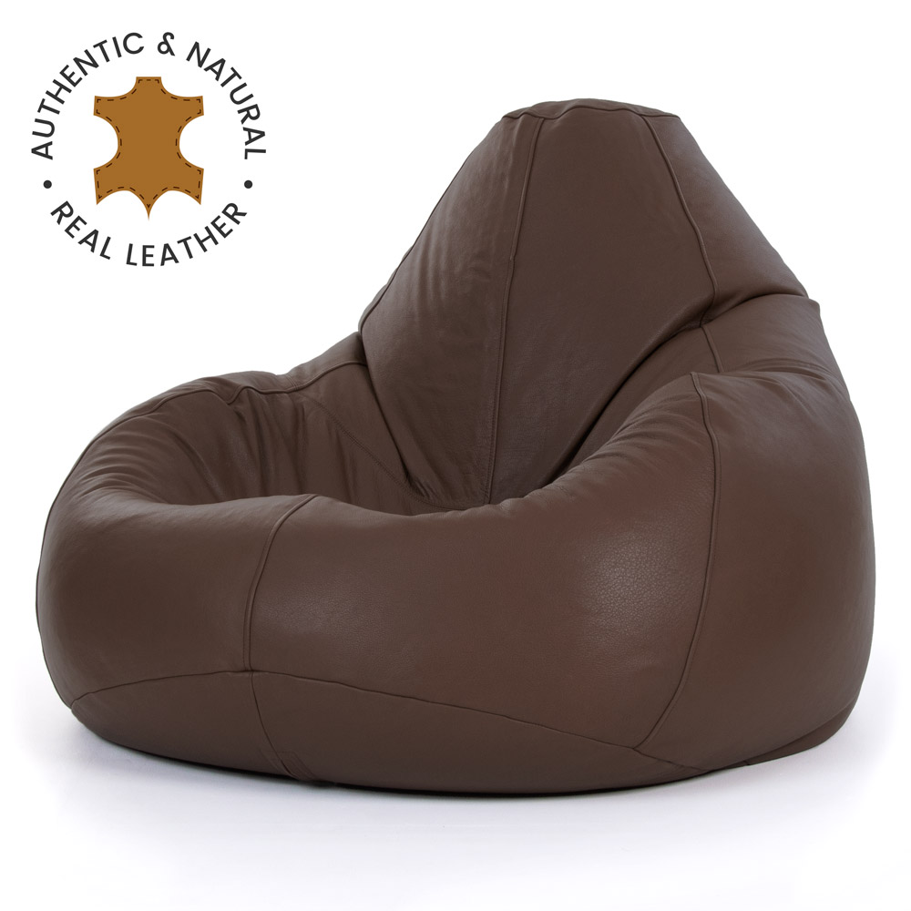 miniatura 6 - Bean Bag Bazaar-Pouf in vera pelle, XXL-Sedia reclinabile in pelle Bag-ICON