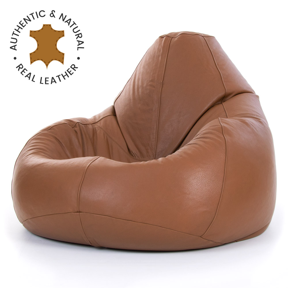 miniatura 10 - Bean Bag Bazaar-Pouf in vera pelle, XXL-Sedia reclinabile in pelle Bag-ICON
