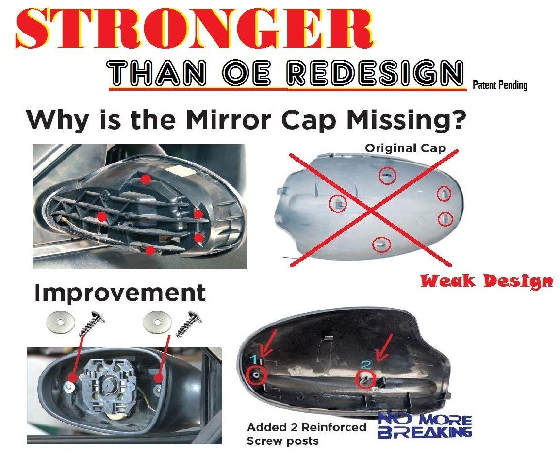 Mirror Cover Skull Cap For 2002 2006 Nissan Altima W40