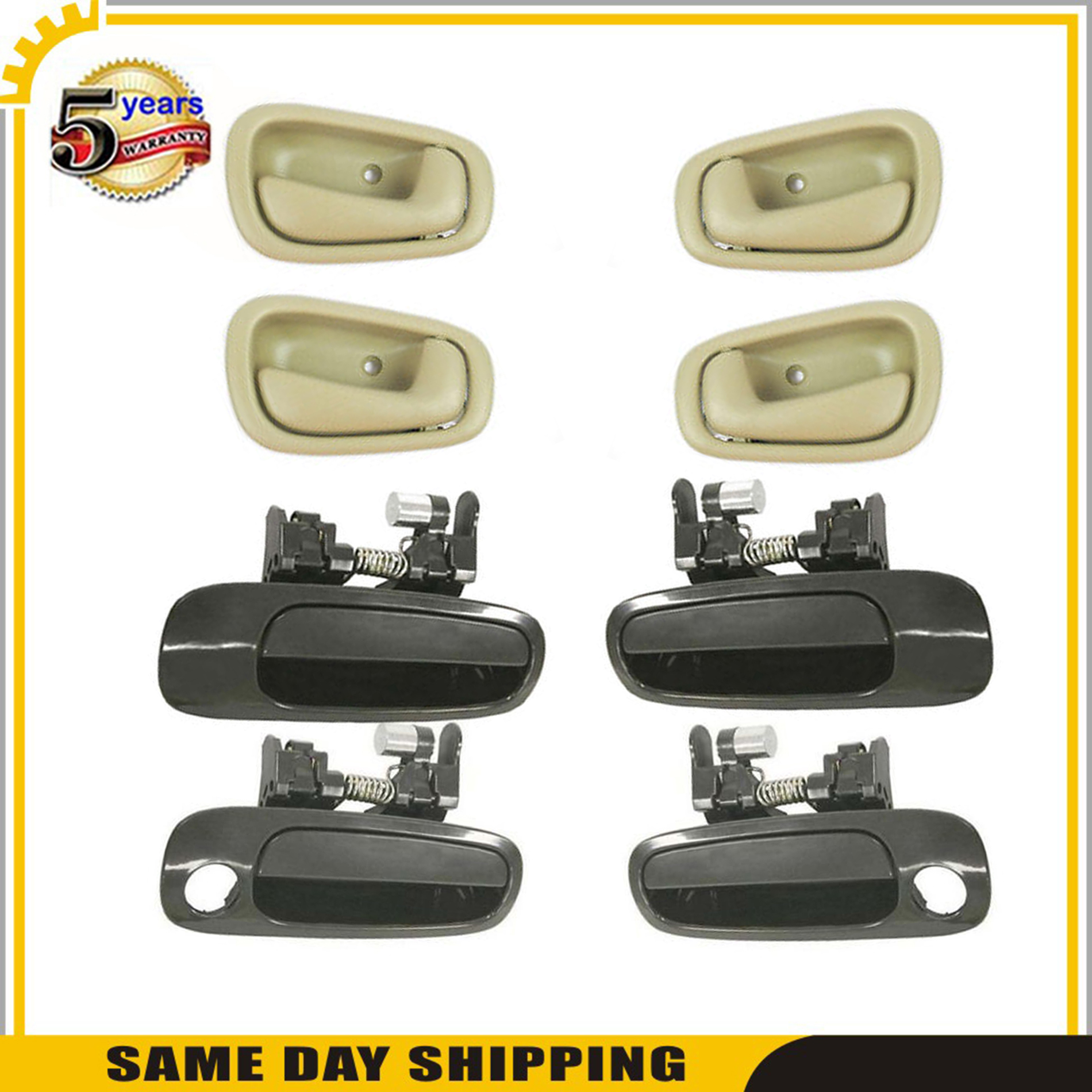 Outside Non Painted Prizm Inside Door Handle Tan DS26 For 98-2002 Corolla