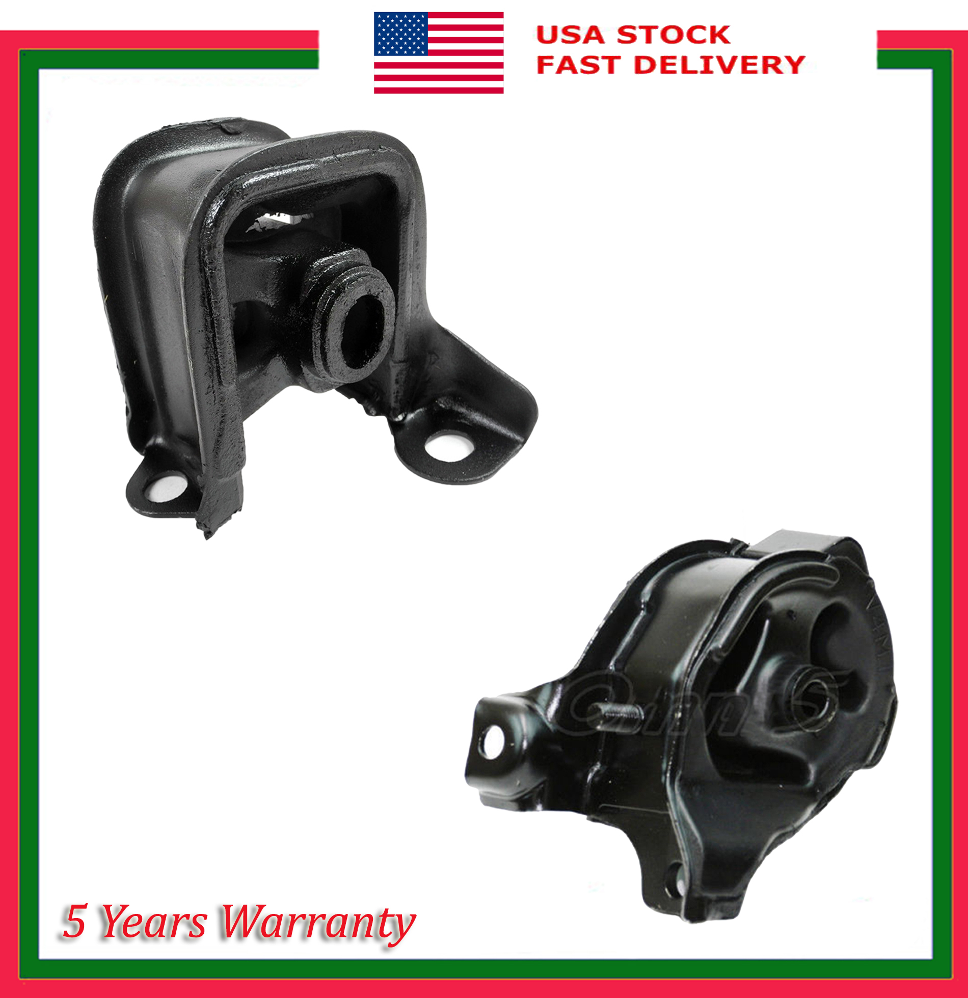 Set 2 Engine Motor & Trans Mount Manual For Acura Honda CL