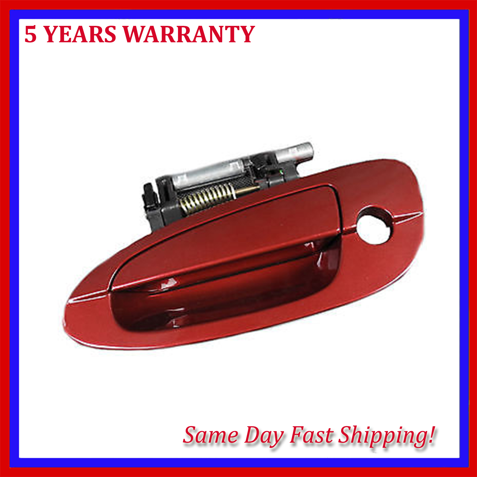 For 2002-2006 NISSAN ALTIMA B4006 Rear Left Outside Door Handle Red Mica AX3