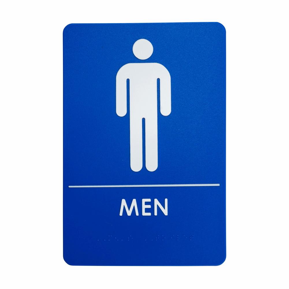 Mens Restroom Signs Ada Compliant Bathroom Door Restaurants Made In Usa 24 Pack Ebay