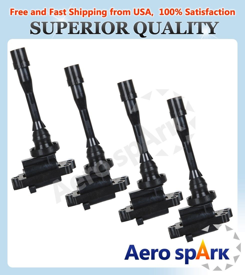 DEAL Pack of 2 New Ignition Coils for Dodge Stratus-Mitsubishi Eclipse Galant Lancer Mirage Outlander 1.8L 2.0L 2.4L L4 Compatible With UF295 UF295 C1257 UF141