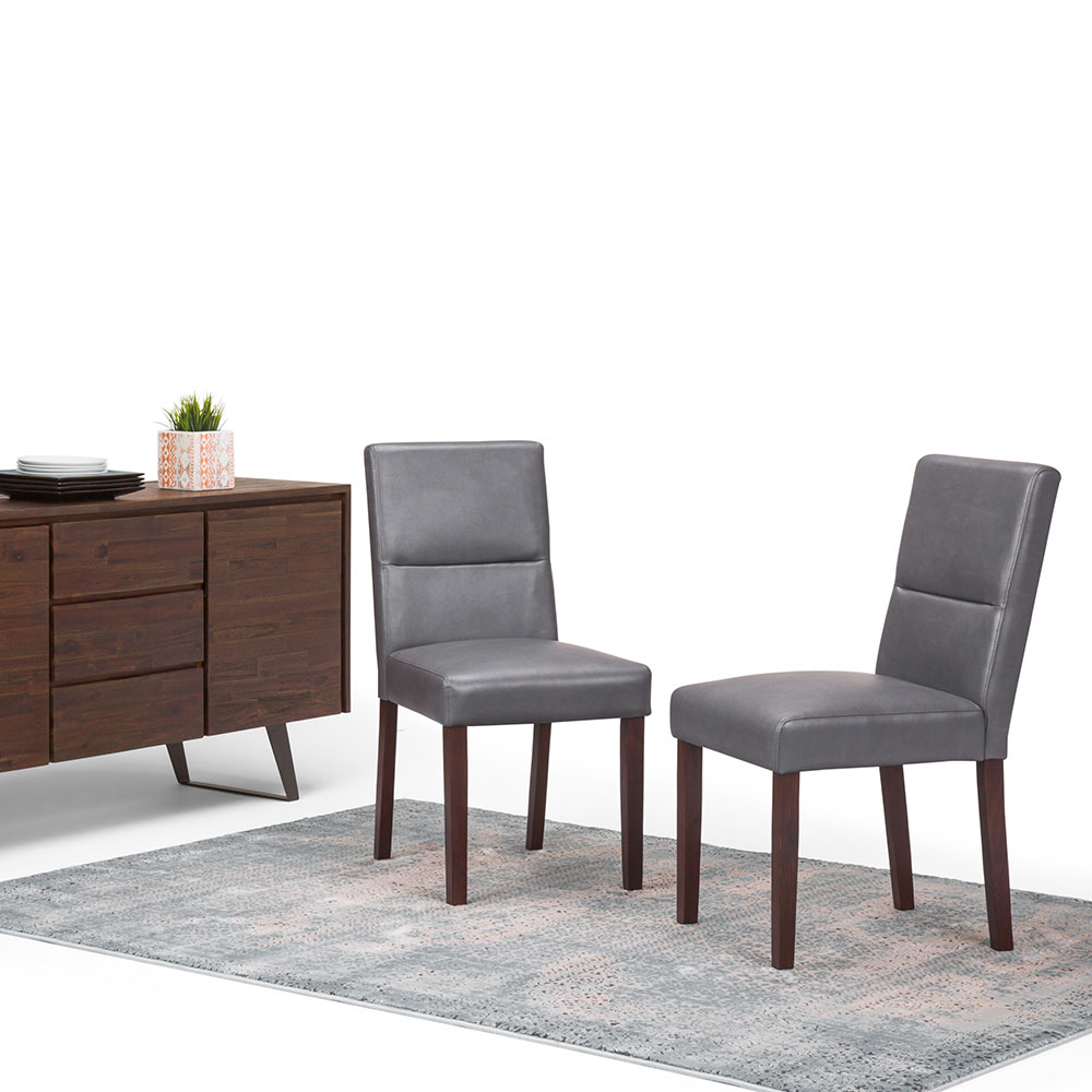 Ashford Faux Leather Parson Dining Chair In (Set Of 2)
