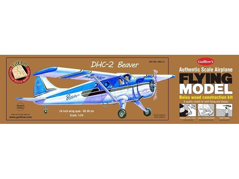 Details about Balsa Wood Flying Model Airplane Guillow's DHC-2 Beaver, Bush  Pilot GUI-305