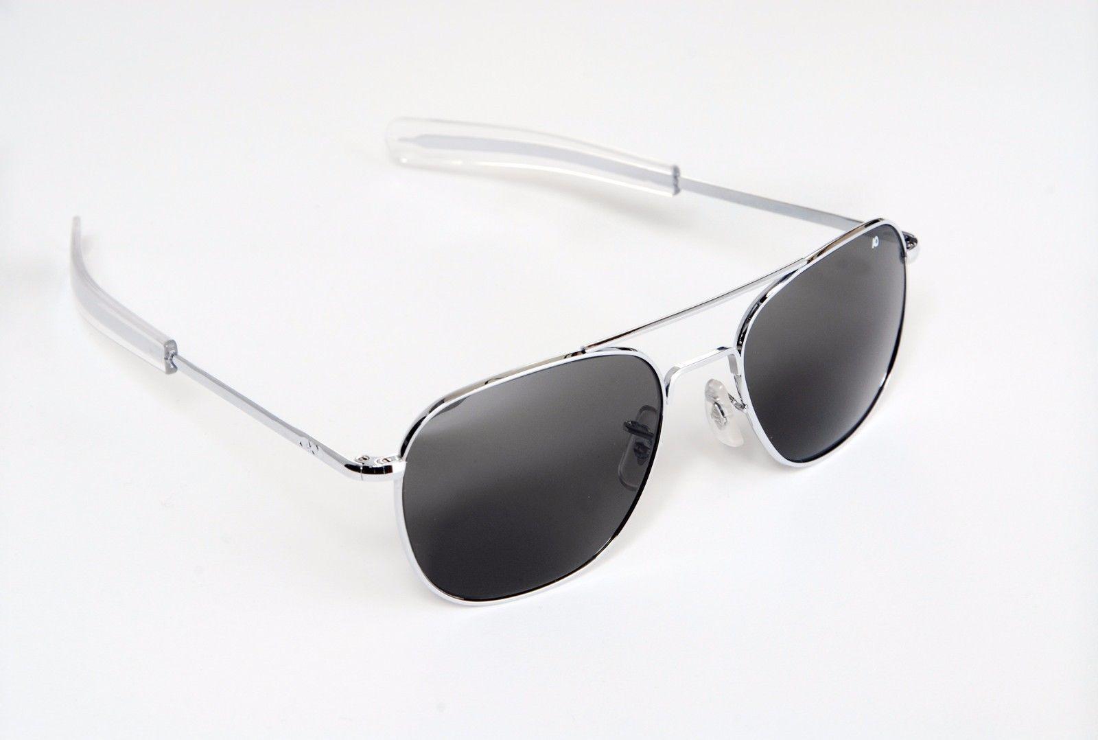 1bb9bb8dfa AO Eyewear Original Pilot Sunglasses Silver Frames OPT-0301-52