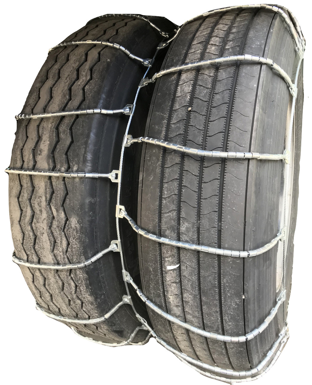 37X12.50 16.5 Cable Tire Chains with Cam Set of 2 TireChain.com 37X12.50-16.5