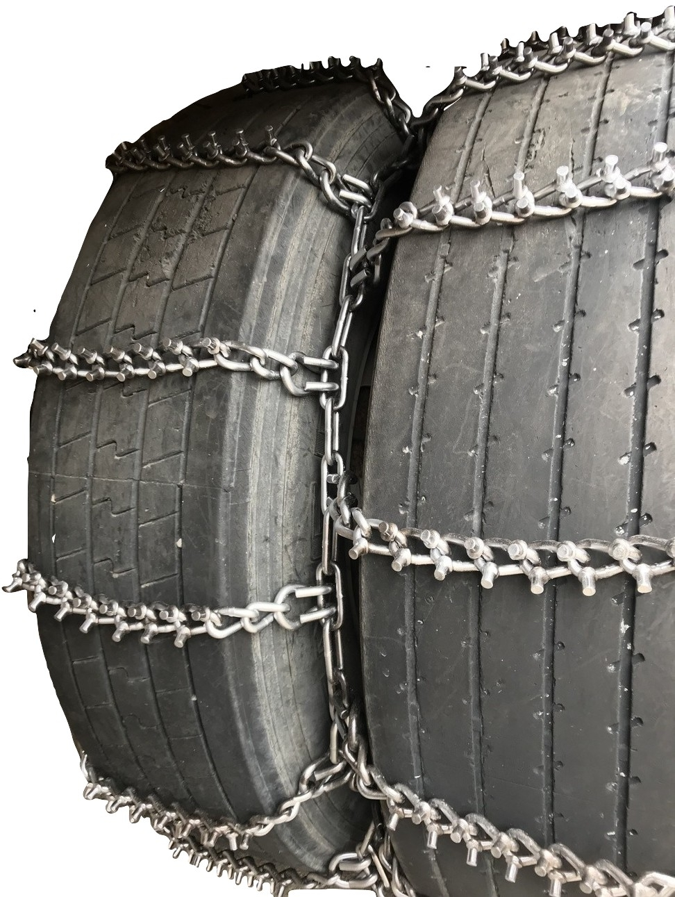 Titan Truck Tire Chains V-Bar CAM Type On Road Ice//Snow 7mm 33x12.50-15