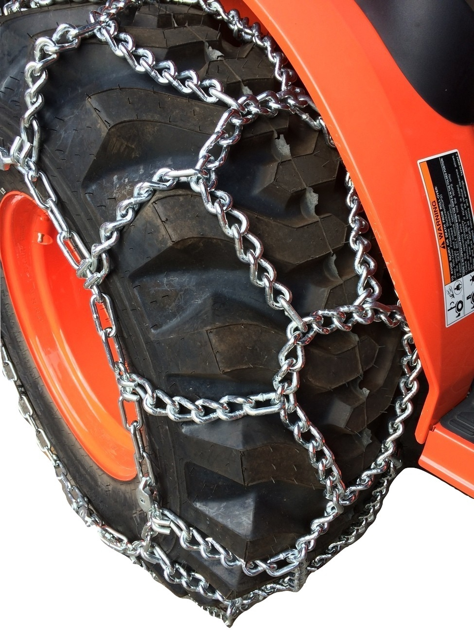 TireChain.com 12.4-24 12.4 24 Duo Grip Tractor Tire Chains Set of 2