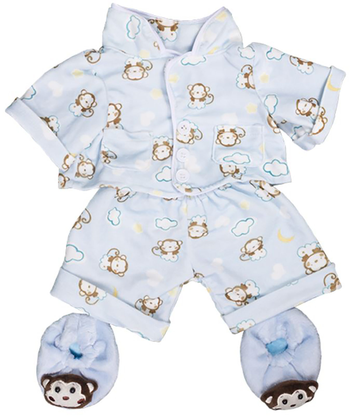"Bear Factory Doll Outfits Fit 14-18/"" Stuffed Bears Animal Blue Bear Bedtime Robe"