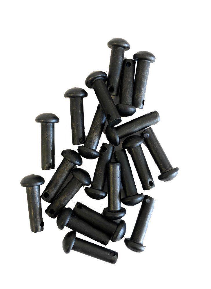 5 pairs of black spur rowel pins /& cotter keys