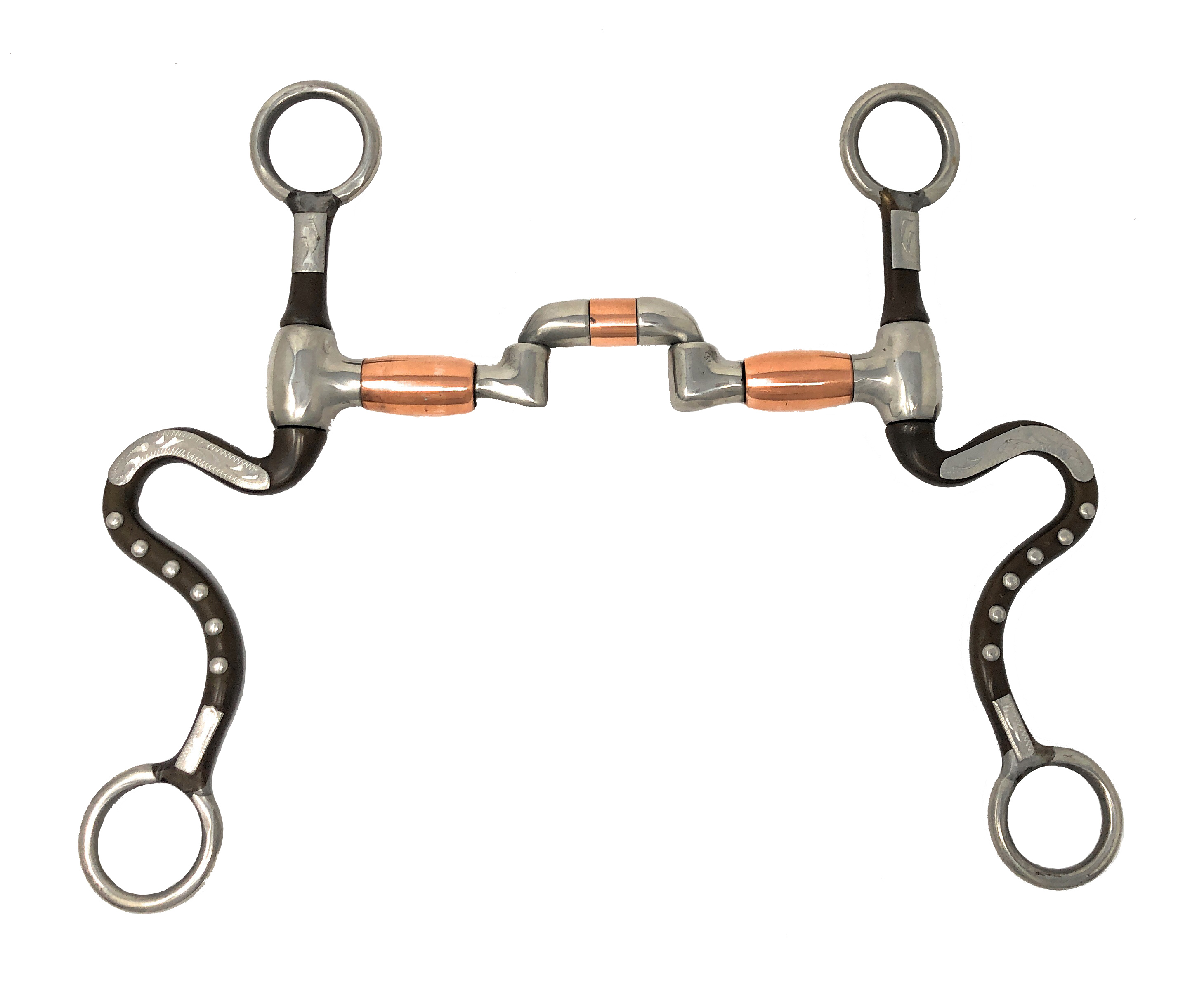 Argentine Hinged Correction Port Horse Bit Short Shank Copper Rollers 5 1//4 Mo