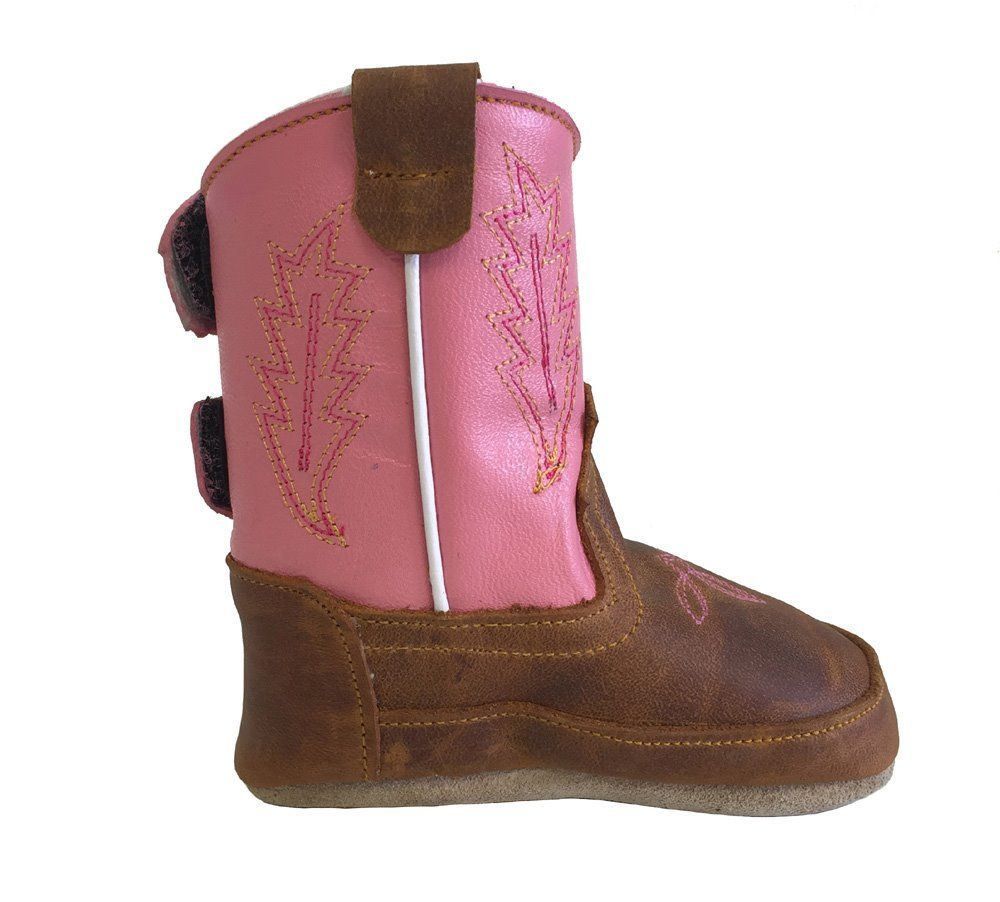 fcf60d43a1f Details about Baby Infant Toddler Cowgirl Boots Soft Genuine Leather  Western Embroider Pink