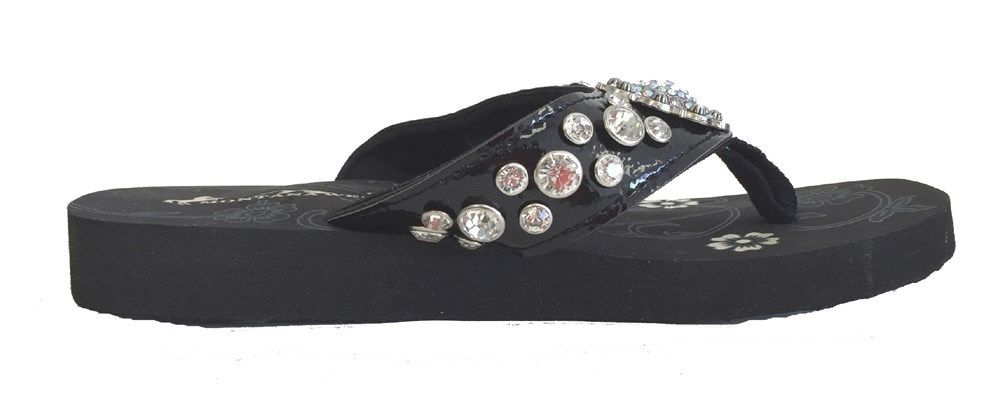 7a783de9a397b Montana West Women Flip Flops Shiny Bling Sandals Crystals Floral ...