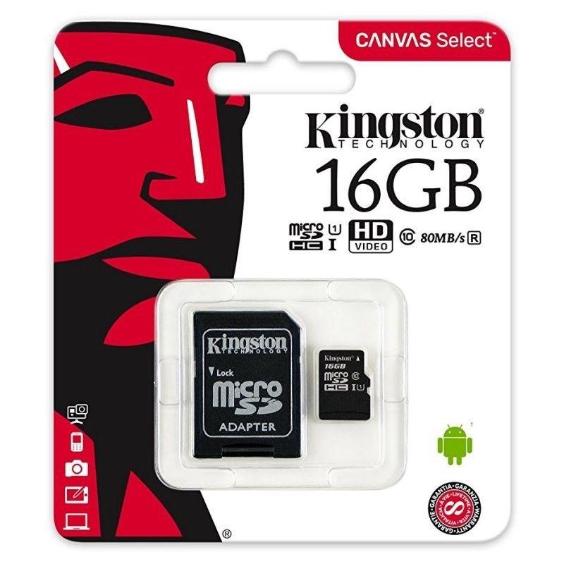 New-Kingston-80MB-s-16GB-32GB-64GB-Micro-SD-SDHC-UHS-I-Class-10-Memory-Card miniature 9