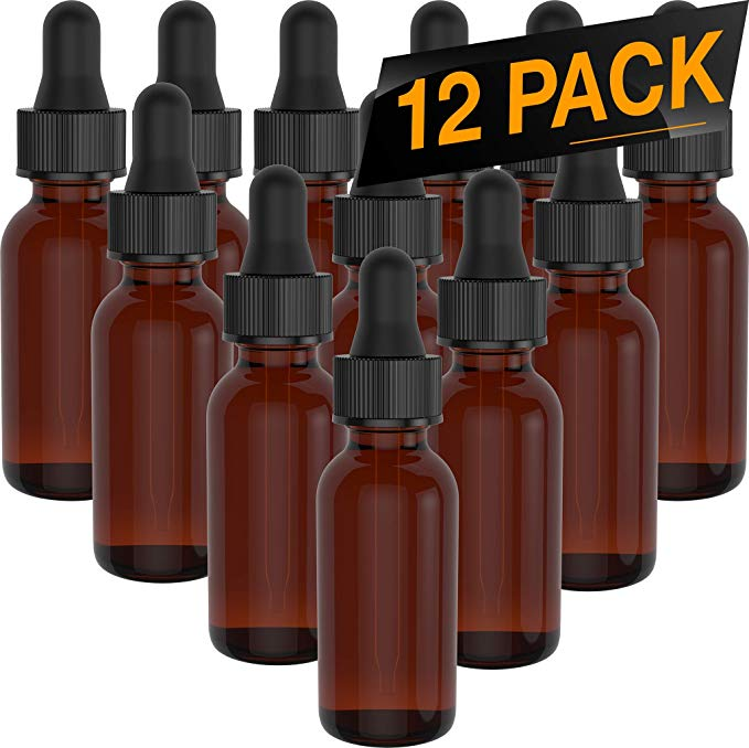 d6506bd1156b Details about 12 Pack Essential Oil Bottles - Round Boston Empty Refillable  Amber Bottle 15ml