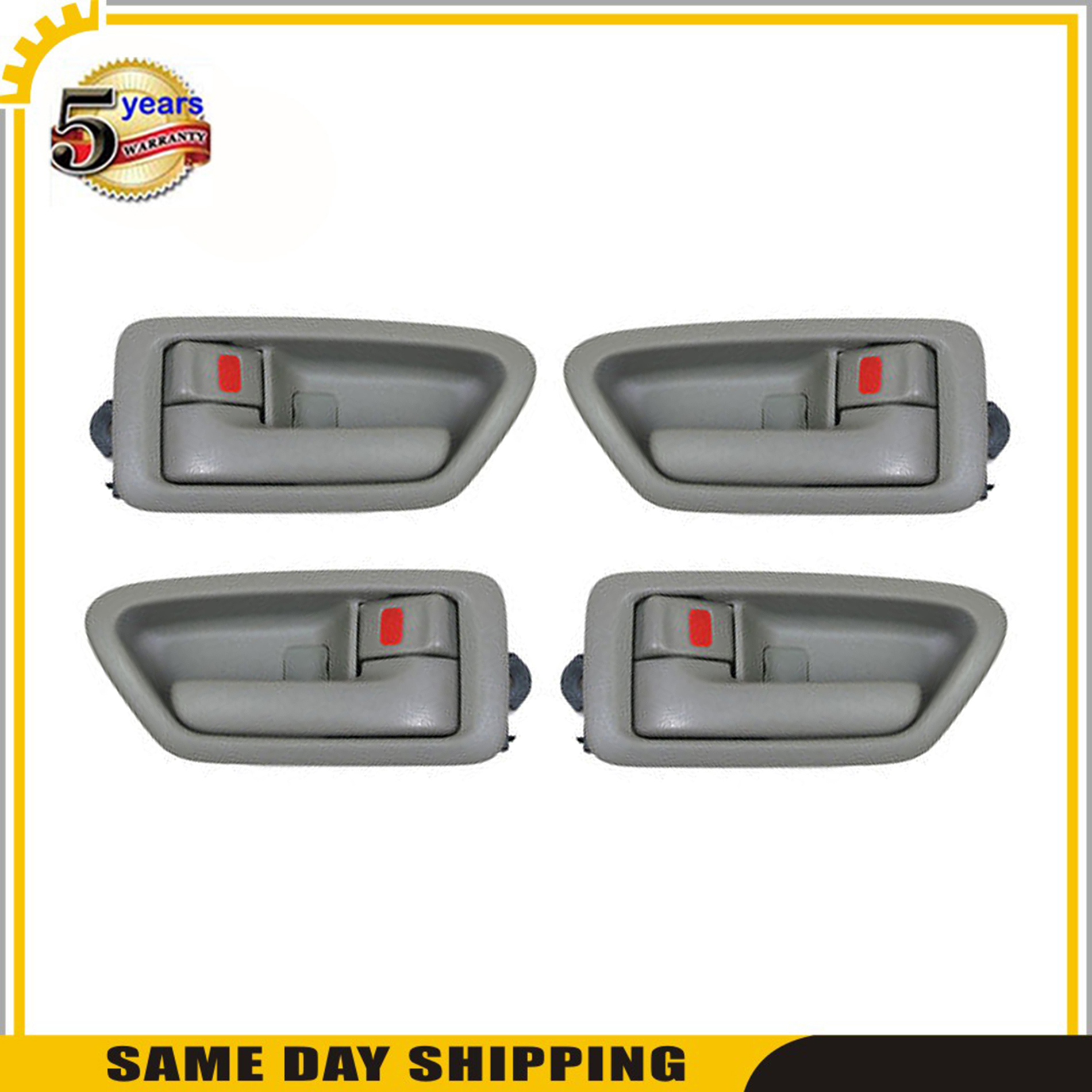 Door handles Front /& Rear Left /& Right 6Pcs for 1997-2001 Toyota Camry