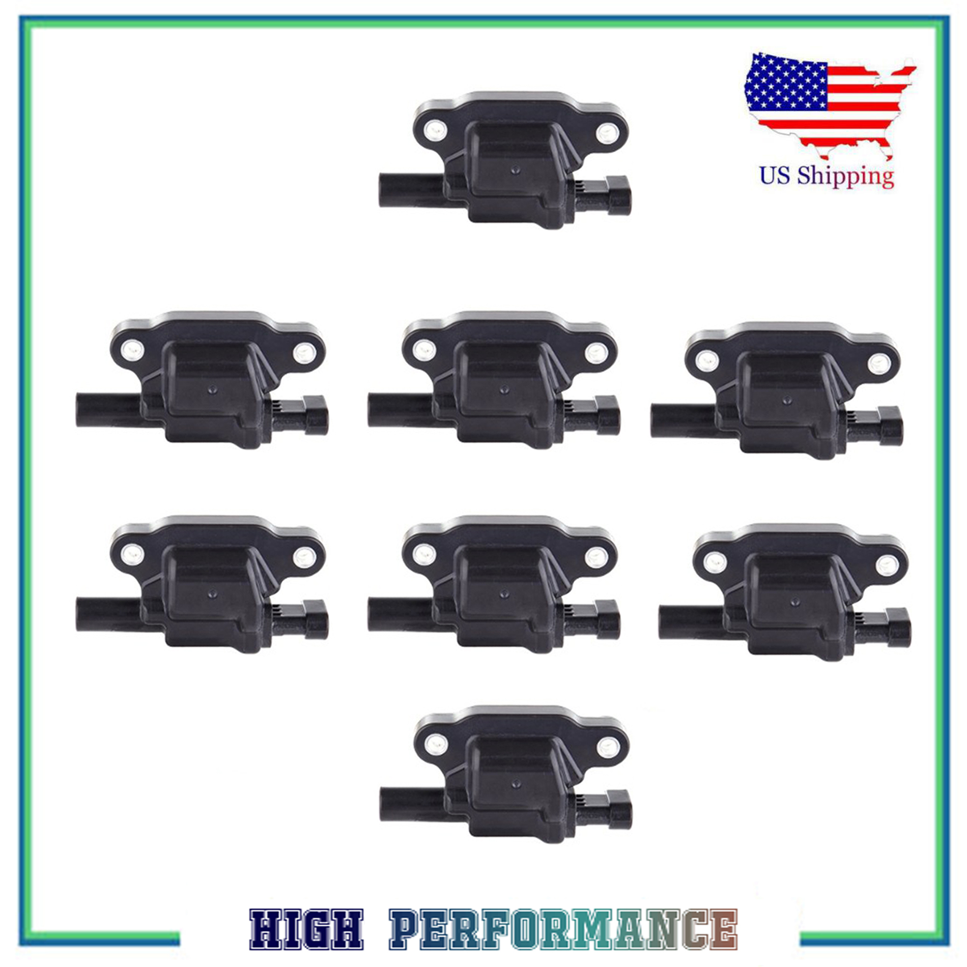 IC508 Fits 2005 Chrysler 300 C1414 2005 Jeep Grand Cherokee 04-05 Dodge Durango 03-05 Dodge Ram 56028394AC 2005 Magnum UF378 Ignition Coil Pack Set of 8-5.7L V8 Hemi Replaces# 56028394AB