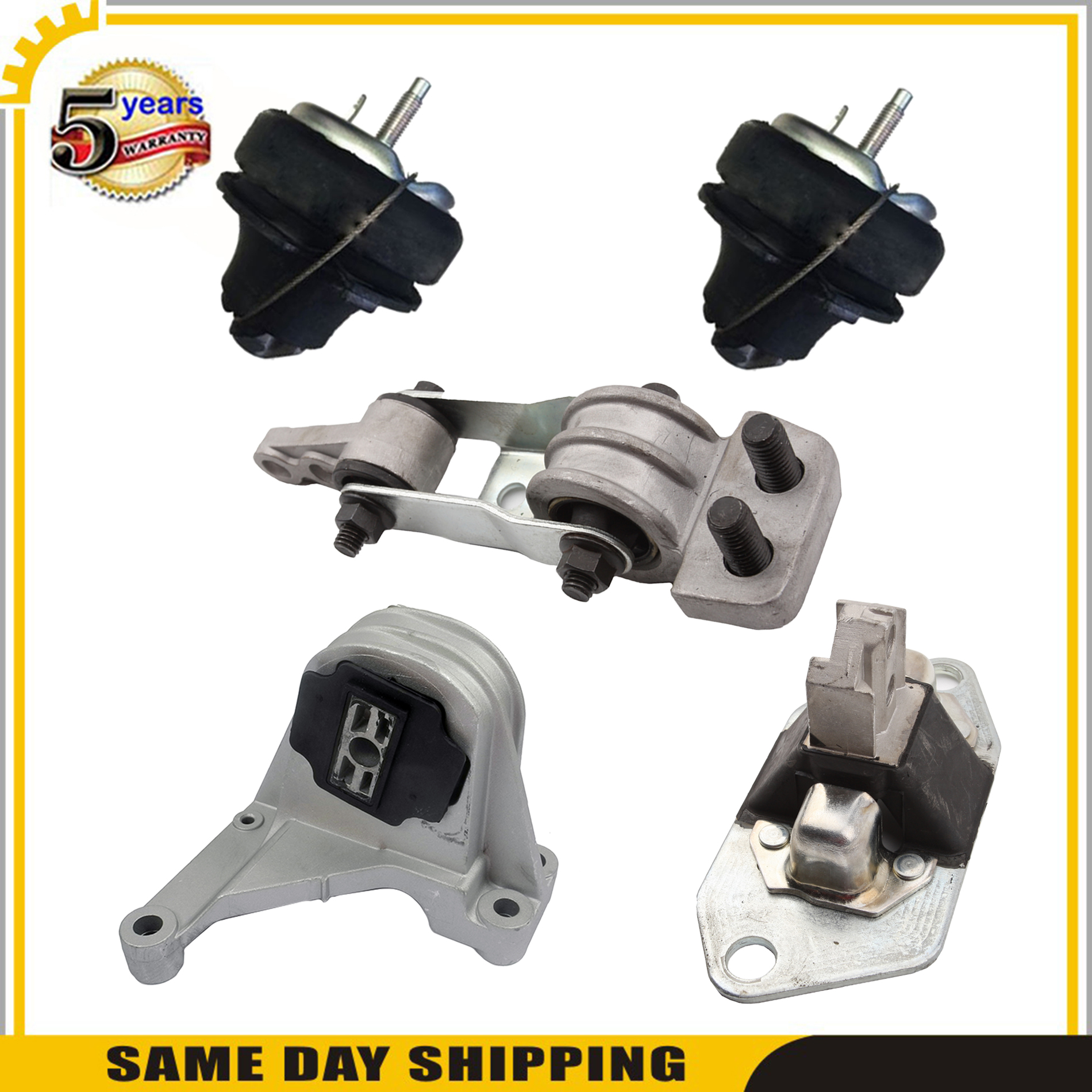 3PCS MOTOR TRANSMISSION MOUNT FOR 2004-2006 VOLVO S80 2.5L 2003-2007 XC90 XC70