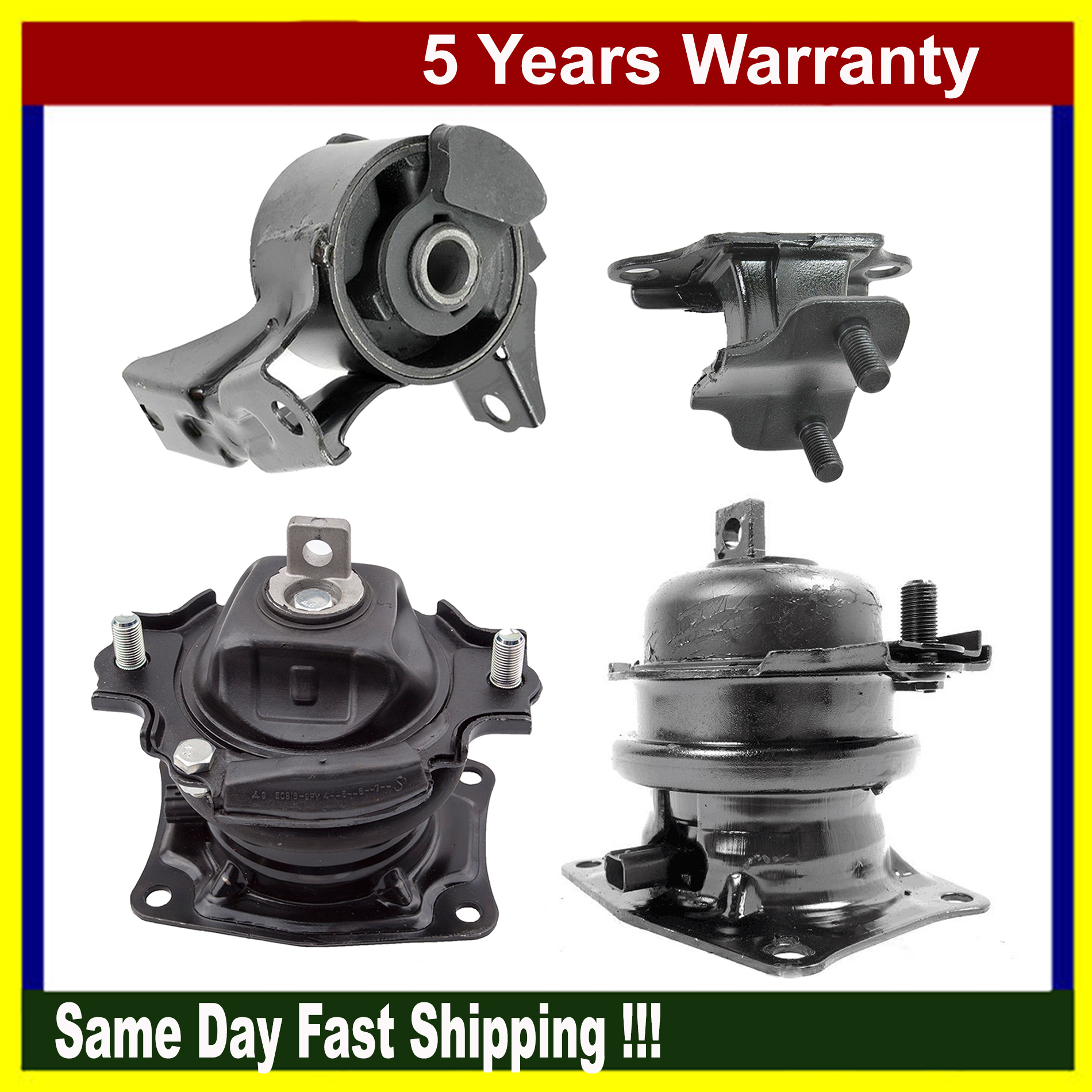 Fits For 05-07 Honda Odyssey IVTEC Front Rear Engine Motor Mount Kit Pair with Sensor 3.5