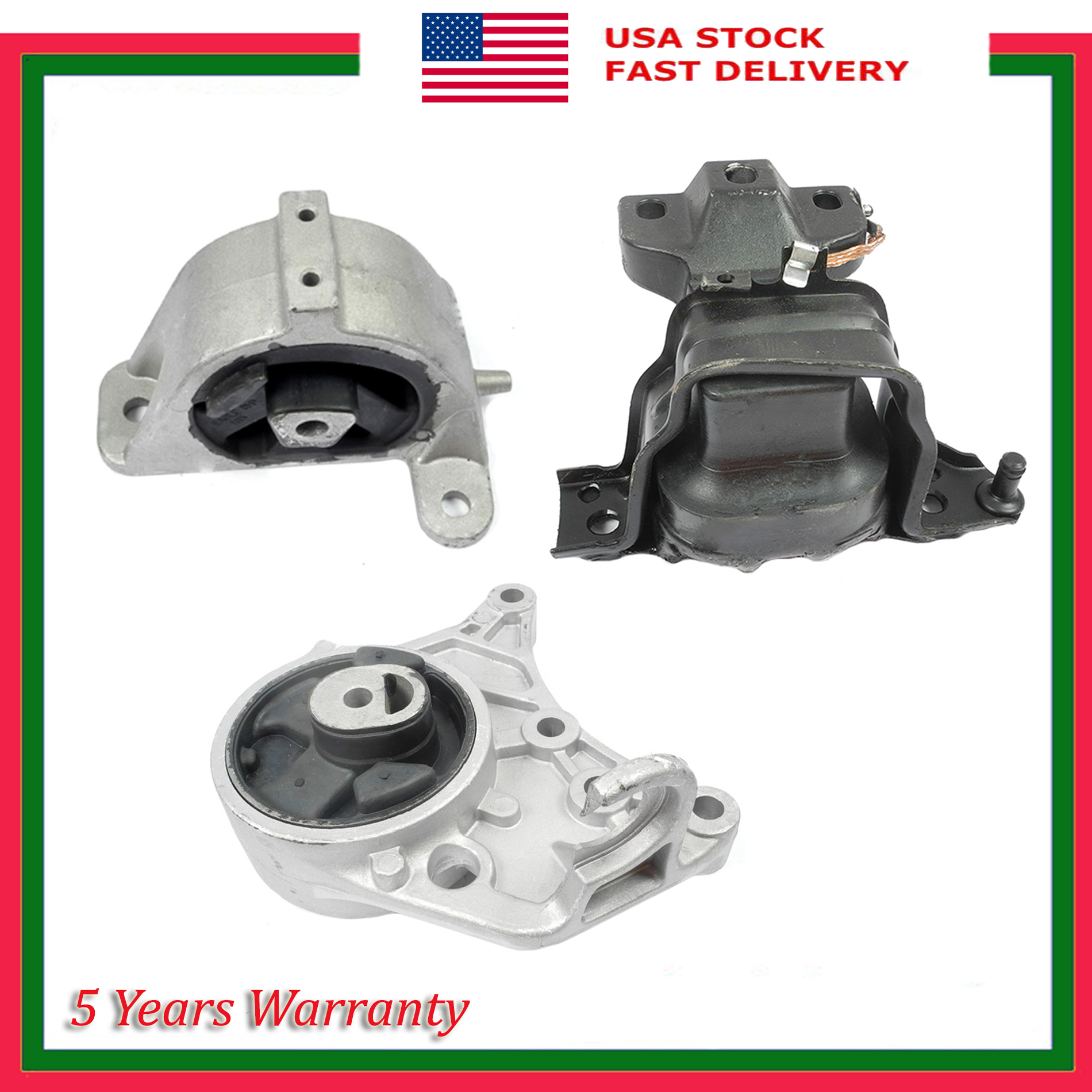 For Town /& Country Grand Caravan 3.3L 3.8L 08-10 Motor Mount 5480 Front Right