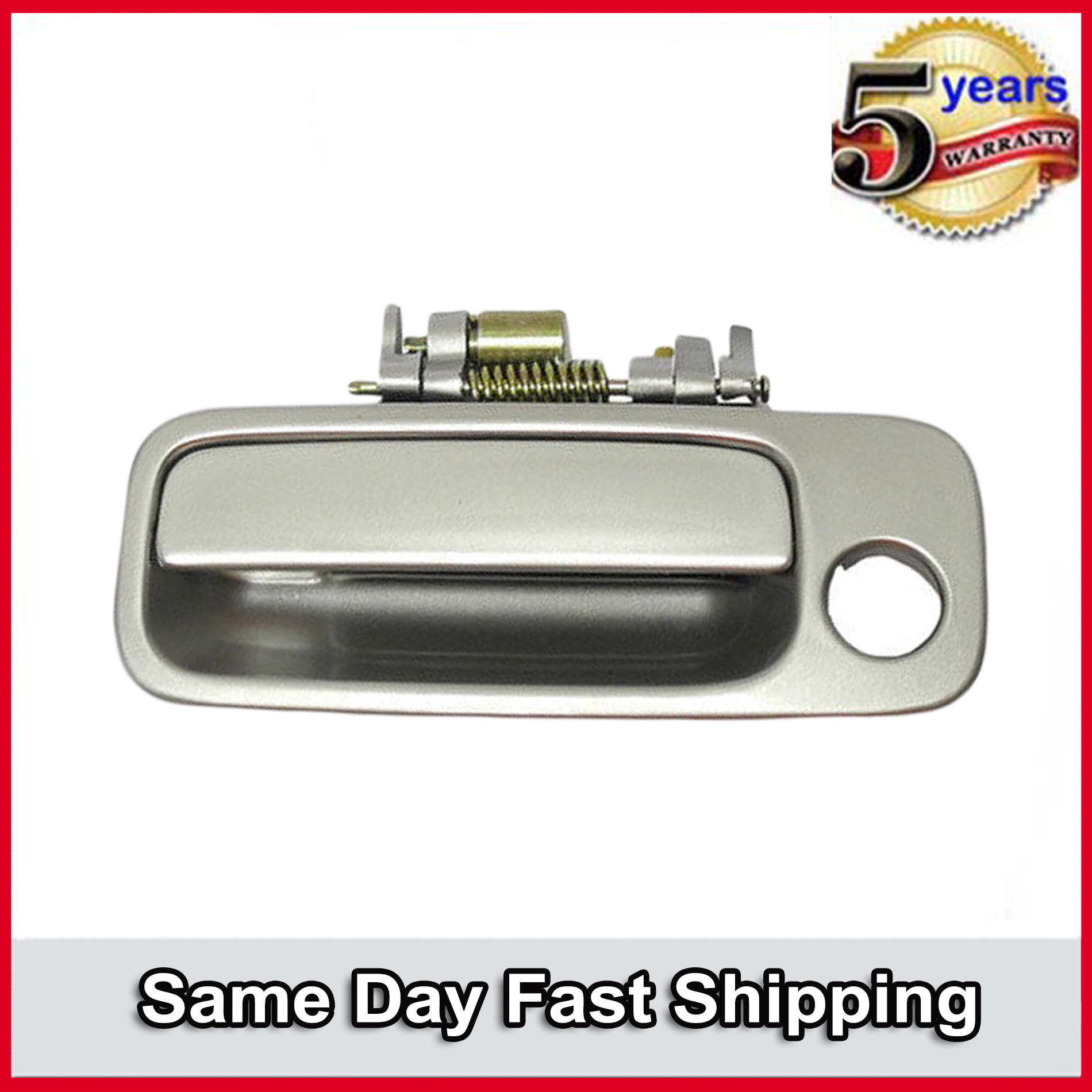 Front Right Side Outside Door Handle for 1997-2001 Toyota Camry 1C8 Silver