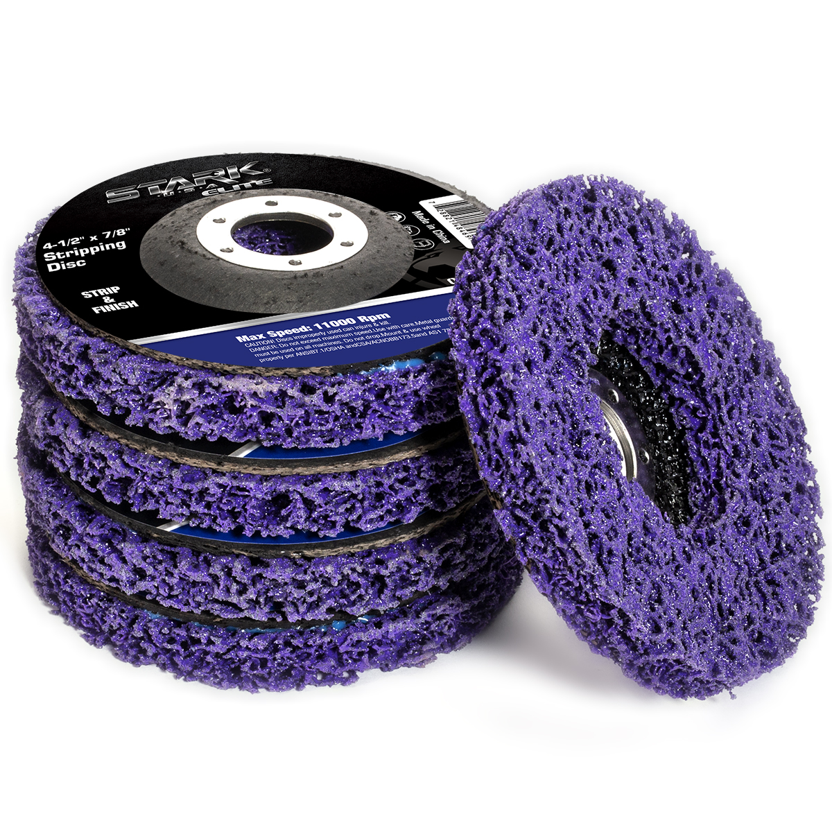 """10 Pack 4.5/""""x7//8/""""  Easy Strip 4-1//2/"""" Discs Remove Paint Rust /& Clean"""