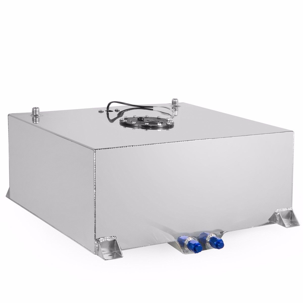 Lightweight Aluminum Polished Race Street Drift With Level Sender Silver 20-Gallon Universal Fuel Cell Gas Tank