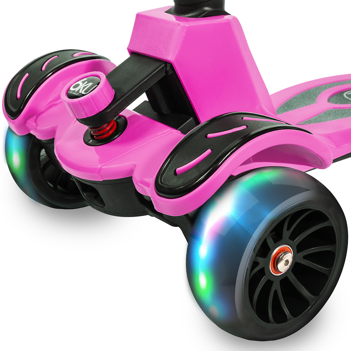 boy-girl-led-flashing-Scooter-Kids-Deluxe-3-Wheel-Glider-Kick-Go-Lean-2-Turn thumbnail 19