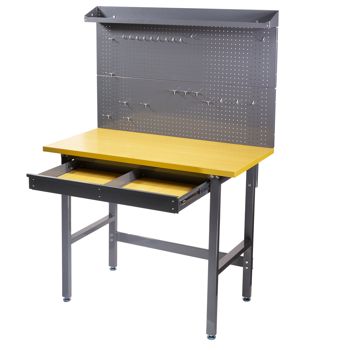 500lbs New Work Bench Tool Storage Steel Workshop Table W ...